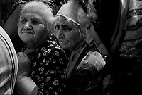 Gori, Georgia, August 14, 2008.Five days after the fall of Gori to the Russian forces, a single bakery reopens, hundreds of people queue to try and get a loaf of bread..