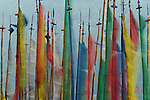 This marvelous image of prayer flags was shot on a recent trip to Bhutan. The color and drama create a feeling that is both spiritual and energetic.