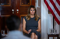 First lady Melania Trump holds a listening session with youth from the Truth Initiative, ages 13 to 18, at the White House in Washington D.C., U.S. on October 9, 2019. <br /> <br /> Credit: Stefani Reynolds / CNP / MediaPunch