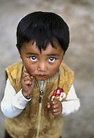 Tibetan boy, Luhuo, Kham Tibet, 2005