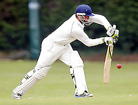 Freddie Fairhead bats for Hampstead during the Middlesex County Cricket League Premier Division  game between Hampstead and North Middlesex at Lymington Road, Hampstead on Sat July 19, 2014