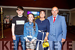 Colleen Sayers from Kilflynn with her brother Donnacha and mom and dad Marion and Denis at her confirmation in St Bernard's Church Abbeydorney on Tuesday.