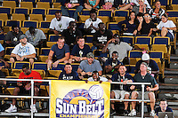 17 November 2011:  FIU fans cheer for their team as the FIU Golden Panthers defeated the Denver University Pioneers, 3-1 (25-21, 23-25, 25-21, 25-18), in the first round of the Sun Belt Conference Tournament at U.S Century Bank Arena in Miami, Florida.