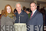 Carol Hickson, Roger Hickson and Jason O'Mahony pictured at the Kery film festival at Siamsa Tire on Saturday Night.