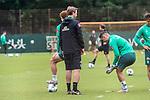 30.06.2020, Trainingsgelaende am wohninvest WESERSTADION,, Bremen, GER, 1.FBL, Werder Bremen Training, im Bild<br /> <br /> <br /> Joshua Sargent (Werder Bremen #19)<br /> Florian Kohfeldt (Trainer SV Werder Bremen)<br /> Milot Rashica (Werder Bremen #07)<br /> <br /> <br /> Foto © nordphoto / Kokenge