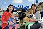 11-8-2014: Getting up close to the king are Pamella O'Riordan, Ella Mccarthy, Ali and Leah O'Riordan from Killorglin at Puck Fair, Killorglin on Monday.<br /> Picture by Don MacMonagle