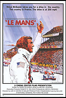 BNPS.co.uk (01202 558833)<br /> Pic: CinemaCenterFilms<br /> <br /> A film poster for Le Mans.<br /> <br /> The iconic Porsche from Steve McQueen's legendary film Le Mans is expected to race away at auction for &pound;12million. <br /> <br /> The stunning 917K was used as a test car for the 1970 24 Hours of Le Mans, which Porsche won, before gracing the silver screen a year later. <br /> <br /> Following its brush with fame the famous motor was left to languish in a barn for 25 years before being rediscovered in 2001, when it underwent an extensive restoration. <br /> <br /> The history-steeped car will be sold by a European collector through Gooding &amp; Company auctioneer in Pebble Beach, California, on August 18.