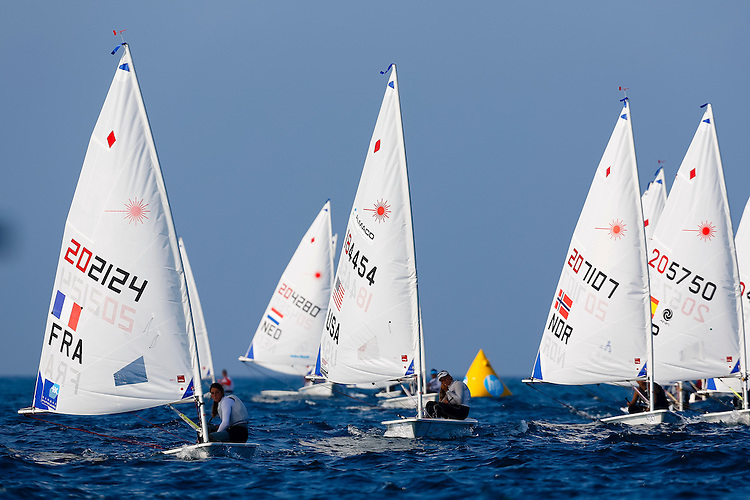20140912, Santander, Spain: 2014 ISAF SAILING WORLD CHAMPIONSHIPS - More than 1,250 sailors in over 900 boats from 84 nations will compete at the Santander 2014 ISAF Sailing World Championships from 8-21 September 2014. The best sailing talent will be on show and as well as world titles being awarded across ten events 50% of Rio 2016 Olympic Sailing Competition places will be won based on results in Santander. Boat class and Sailor(s): Laser Radial - USA184454 - Erika REINEKE. Photo: Mick Anderson/SAILINGPIX.DK.