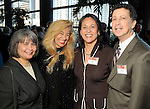 From left: Gloria Moreno, Sofia Androgue, Olga Rodriguez and Barry Mandel at the Heart of Gold Celebration benefitting Neighborhood Centers Inc at the Hilton Americas Hotel Thursday Feb. 25,2010. (Dave Rossman Photo)