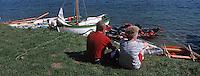 Europe/France/Bretagne/35/Ille-et-Vilaine/Env de St Malo: Lors de la fète des Doris (Vieux canots des Terres- Neuvas) sur la Rance