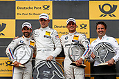 June 17th 2017, Hunaroring, Budapest, Hungary; DTM Motor racing series; Podium showing winner Paul di Resta (GBR, HWA AG, Mercedes-AMG C63 DTM), 16 Timo Glock (GER, BMW Team RMR, BMW M4 DTM), 7 Bruno Spengler (CAN, BMW Team RBM, BMW M4 DTM)