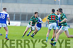 Jack Barry of St Brendans in action against Shannon Rangers in the County Football Championship 3rd round on Saturday.