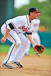 6 March 2012: Atlanta Braves infielder Drew Sutton in action during a Spring Training game against the Washington Nationals at Champion Park in Disney's Wide World of Sports Complex, Orlando, Florida. The Nationals defeated the Braves 5-2 in Grapefruit League action. Mandatory Credit: Ed Wolfstein Photo