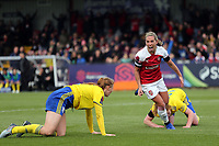 Jordan Nobbs of Arsenal Women celebrates scoring the first goal during Arsenal Women vs Birmingham City Ladies, FA Women's Super League Football at Meadow Park on 4th November 2018