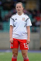 Anna Filbey of Wales Women's' during the pre-match warm-up for the Women's International Friendly match between Wales and New Zealand at the Cardiff International Sports Stadium in Cardiff, Wales, UK. Tuesday 04 June, 2019