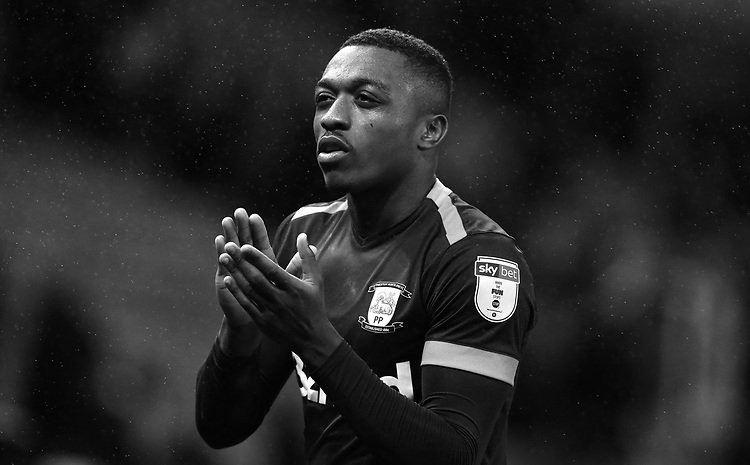Preston North End's Darnell Fisher applauds the fans at the final whistle <br /> <br /> Photographer Stephen White/CameraSport<br /> <br /> The EFL Sky Bet Championship - Stoke City v Preston North End - Saturday 26th January 2019 - bet365 Stadium - Stoke-on-Trent<br /> <br /> World Copyright © 2019 CameraSport. All rights reserved. 43 Linden Ave. Countesthorpe. Leicester. England. LE8 5PG - Tel: +44 (0) 116 277 4147 - admin@camerasport.com - www.camerasport.com