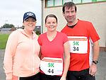 Carol Matthews, Annmarie Finnegan and Robert Moonan who ran the Ferdia Challange 5K run in Ardee. Photo:Colin Bell/pressphotos.ie