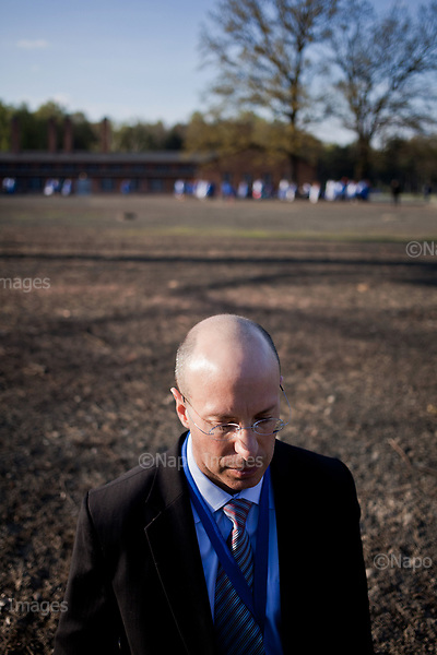 OSWIECIM, POLAND, APRIL 24, 2017:<br /> Elisha Wiesel is posing in Auschwitz-Birkenau concentration camp during the &quot;March of The Living&quot; an annual march between two camps of the Auschwitz concentration camp.  Elisha Wiesel is a chief technology officer at Goldman Sachs in New York and the only son of Holocaust memoirist Eli Wiesel. After death of his father he has decided to step forward and take a more public role, carrying on his father's work.<br /> (Photo by Piotr Malecki / Napo Images)<br /> ###<br /> OSWIECIM, 24/04/2017:<br /> Elisha Wiesel, syn slawnego Eli Wiesela, bierze udzial w Marszu Zywych w Oswiecimiu. Po smierci ojca Elisha postanowil kontynuoawc jego dzielo.<br /> Fot: Piotr Malecki / Napo Images<br /> <br /> ###ZDJECIE MOZE BYC UZYTE W KONTEKSCIE NIEOBRAZAJACYM OSOB PRZEDSTAWIONYCH NA FOTOGRAFII###