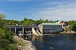 The Kennebec River at Skowhegan, Maine, USA