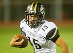 Lawndale, CA 09/26/14 - Nick Orlando (Peninsula #15) in action during the Palos Verdes Peninsula vs Lawndale CIF Varsity football game at Lawndale High School.  Lawndale defeated Peninsula 42-21