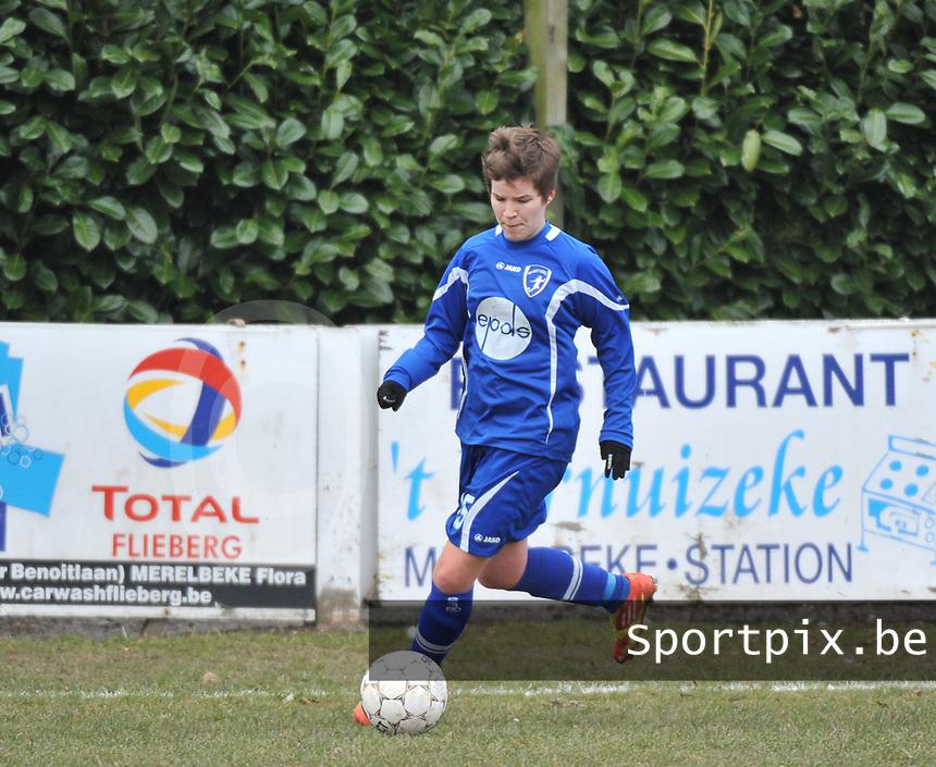 AA Gent Ladies - Lommel : Annelien Van Gansbeke<br /> foto DAVID CATRY / Nikonpro.be