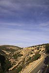 Israel, Upper Galilee, Road 8993 overlooking Wadi Namer