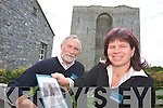 Mike Moriarty and Ragnhild Ingavldsen OPW tour guides at Listowel Castle on Tuesday.
