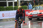 Javier Moreno (ESP) Bahrain-Merida in action during Stage 1, a 14km individual time trial around Dusseldorf, of the 104th edition of the Tour de France 2017, Dusseldorf, Germany. 1st July 2017.<br /> Picture: Eoin Clarke | Cyclefile<br /> <br /> <br /> All photos usage must carry mandatory copyright credit (&copy; Cyclefile | Eoin Clarke)