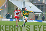 Padraig Reidy, Barry McGoldrick (Derry), Kerry v Derry, Allianz National Football League, 2nd March 2008 at Fitzgerald Stadium, Killarney.   Copyright Kerry's Eye 2008