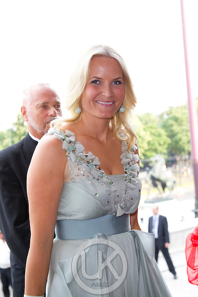 Crown Princess Mette Marit of Norway on a three day visit to Vienna to attend the 18th International UNAIDS Conference, attends a Dinner at The Austrian Parliament