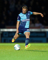 Danny Rowe of Wycombe Wanderers during the Carabao Cup match between Wycombe Wanderers and Fulham at Adams Park, High Wycombe, England on 8 August 2017. Photo by Alan  Stanford / PRiME Media Images.