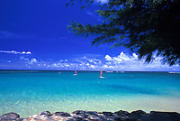 Anini Beach with beautiful blue sky and water