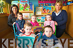 Children at Raheen Community Playgroup are learning to enjoy new reading with a pilot reading project. .Front L-R Andrew McGuillicuddy and Evan O'Sulllivan .Middle L-R Mischa McCarthy and Niamh Cantillon .Back L-R Norissa O'Donoghue and Joanna Slattery.
