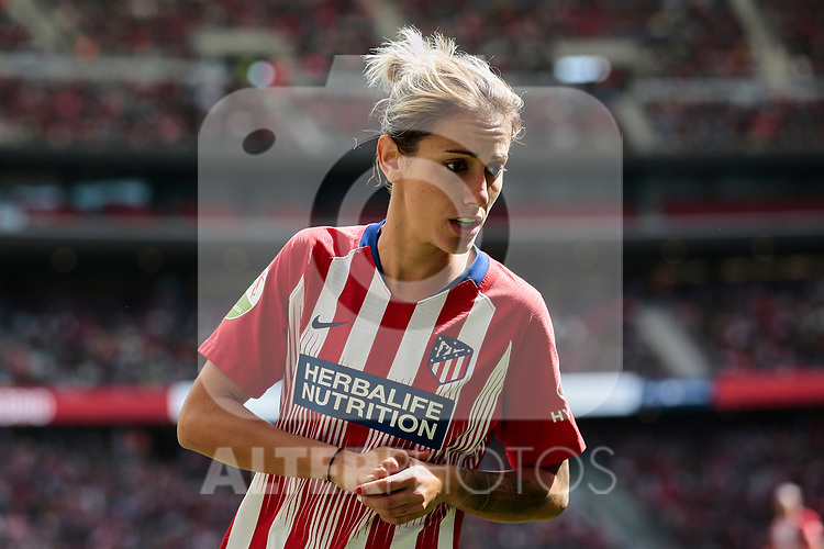 Atletico de Madrid's Angela Sosa during Liga Iberdrola match between Atletico de Madrid and FC Barcelona at Wanda Metropolitano Stadium in Madrid, Spain. March 17, 2019. (ALTERPHOTOS/A. Perez Meca)