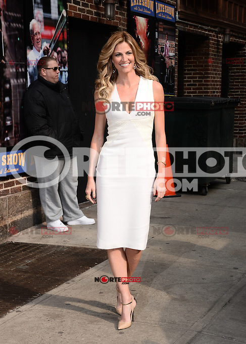 MARCH 10 ,2014- NEW YORK,NYC-Tv personality Erin Andrews arrives for The Late Show With David Letterman at the Ed Sullivan Theater in New York City on March 10, 2014  ©HP/Starlitepics /NORTEphoto.com