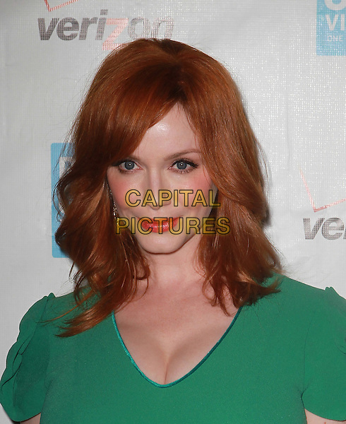 Christina Hendricks.41st Annual Peace Over Violence Humanitarian Awards Held At The Beverly Hills Hotel, Beverly Hills, California, USA, 26th October 2012..portrait headshot green .CAP/ADM/KB.©Kevan Brooks/AdMedia/Capital Pictures.
