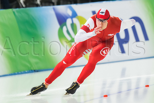 January 29th 2017, Sportforum, Berlin, Germany; ISU Speed Skating World Cup;  ISU Speed Skating World Cup 1000m Division A; Sebastian Klosinski (POL)