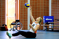 ASSEN - Volleybal, Internationaal zitvolleybal toernooi, Nederland - Rusland, 01-07-2017,  service van Paula List