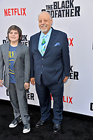 "LOS ANGELES, USA. June 04, 2019: Jesus Garber & Atticus Garber at the premiere for ""The Black Godfather"" at Paramount Theatre.<br /> Picture: Paul Smith/Featureflash"