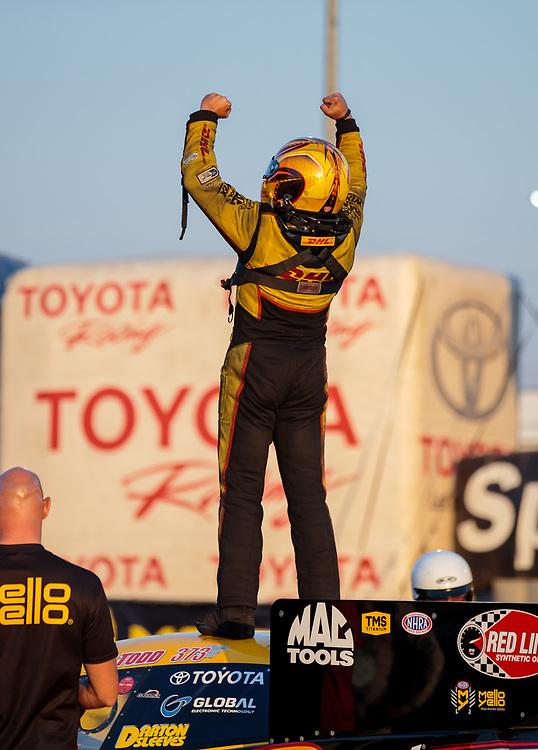 funny car, Camry, J.R. Todd, DHL, celebration, world champion