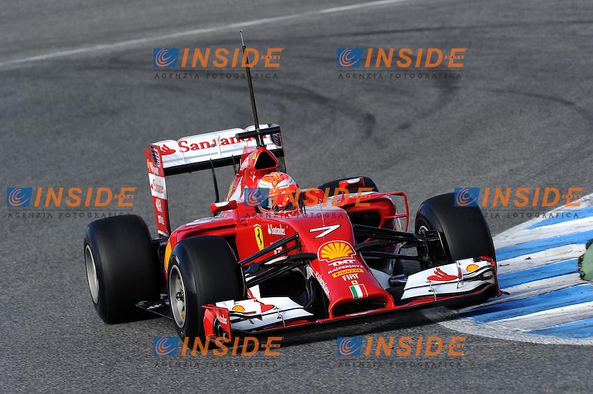 FINNISH KIMI RAIKKONEN ON FERRARI F14 T <br /> Jerez 28/01/2014<br /> Formula 1 Test <br /> Foto Insidefoto