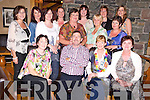Eileen Groves, Ballyhar, KIllarney, pictured with Peter O'Shea, Sheila Kelliher, Vera Sheehan, Marie Coffey, Mary O'Brien, Yvonne McCarthy, Eileen Langston, Kathleen Golden, Eileen Sweeney, Rose Burke, Lorraine O'Sullivan, Margaret Griffin and Joanne Murphy as she celebrated her 50th birthday in Beaufort Bar on Friday night. ..........................................................................................