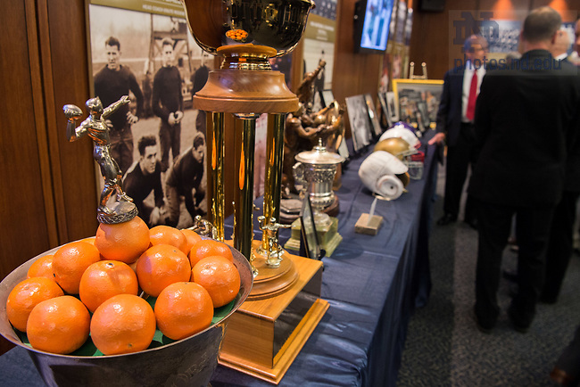 August 6, 2017; Memorial Service at the Purcell Pavilion for former football coach Ara Parseghian (Photo by Matt Cashore/University of Notre Dame)