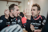 John Degenkolb (DEU/Trek-Segafredo) & Haimar Zubeldia (ESP/Trek-Segafredo) enjoying coffee&cake on the rest day at the Team Trek-Segafredo winter training camp<br /> <br /> january 2017, Mallorca/Spain