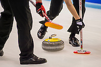 Glasgow. SCOTLAND.  &quot;Round Robin&quot; Game. Le Gruy&egrave;re European Curling Championships. 2016 Venue, Braehead  Scotland<br /> Tuesday  22/11/2016<br /> <br /> [Mandatory Credit; Peter Spurrier/Intersport-images]