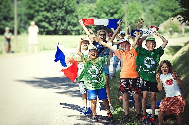 Fans on the roadside during Stage 5 of the 104th edition of the Tour de France 2017, running 160.5km from Vittel to La Planche des Belles Filles, France. 5th July 2017.<br /> Picture: ASO/Pauline Ballet | Cyclefile<br /> <br /> <br /> All photos usage must carry mandatory copyright credit (&copy; Cyclefile | ASO/Pauline Ballet)