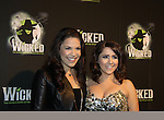 "Lindsay Mendez ""Elphaba"" & Alli Mauzey ""Glinda"" - Wicked - current cast - The blockbuster musical, Wicked, celebrates its 10th Anniversary on Broadway, a milestone achieved by only ten other Broadway productions in history on October 30, 2013 at the Gershwin Theatre, New York City followed by the red carpet at the Edison Ballroom with current, alumni and creative team.  (Photo by Sue Coflin/Max Photos)"