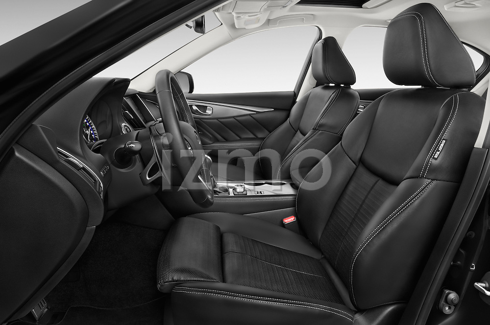 Front seat view of a 2015 Infiniti Q50 Sport 4 Door Sedan front seat car photos