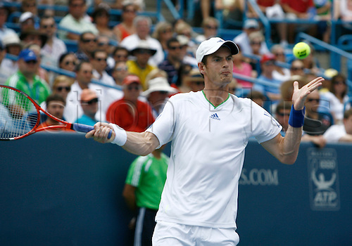 21.08.2011..Andy Murray [GBR] plays in the Men's Final's match at the Western & Southern Open at the Lindner Family Tennis Center in Mason, Ohio...