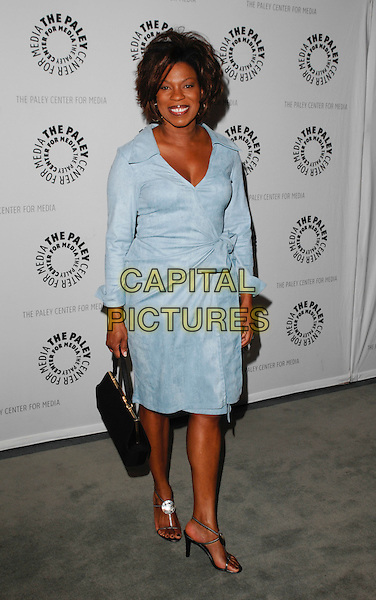 """LORRAINE TOUSSAINT .arriving at the Third Season Premiere and Panel Discussion for """"Saving Grace"""" at The Paley Center for Media in Beverly Hills, California, USA, June 13th 2009..full length blue wrap shirt dress black bag sandals silver .CAP/ROT.©Lee Roth/Roth Stock/Capital Pictures."""